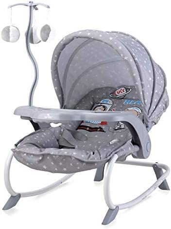 Grey Astronaut Different Designs Baby Infant Rocker Bouncer Swing Reclining Chair and Toys 0M