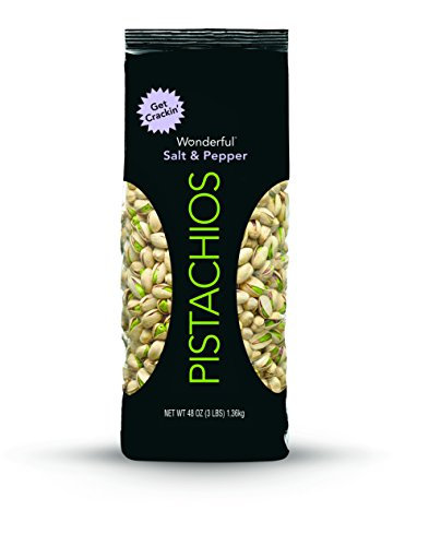 Wonderful Pistachios, Salt and Pepper Flavor, 48 Ounce Bag