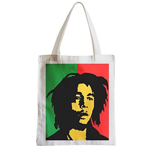 Borsa Grande Shopping Spiaggia Studente Bob Marley Musica Reaggae Bandiera