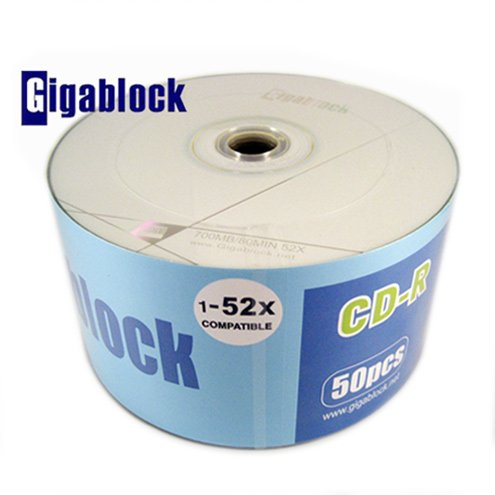 500pcs CD-R 52x A Grade High Quality Gigablock Branded Blank Media Fast Shipping Guarranteed by Gigablock