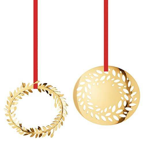 (Georg Jensen 3411516 Christmas Ornament 2016, Magnolia Wreaths, 2 pcs)