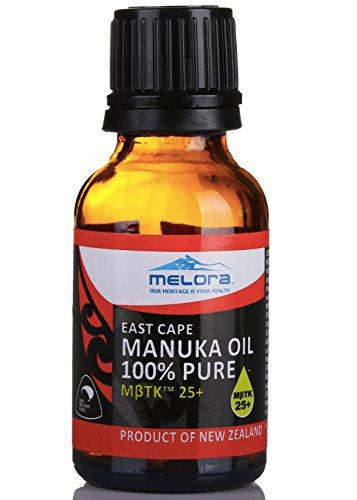 Melora Manuka Oil MβTK 25+, 100ml 100% New Zealand East Cape Essential Oil