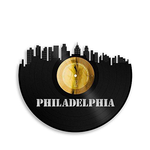 VinylShopUS - Philadelphia Vinyl Wall Art City Skyline Souvenir - Philadelphia Contemporary Art
