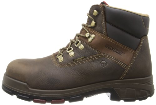 WOLVERINE WORLDWIDE - Cabor Waterproof Work Boots, Extra Wide, Brown Nubuck Leather, Men's Size 12
