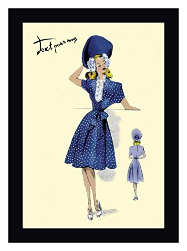 (Summer Polka-Dot Dress and Hat, 1947 by Anonymous - 14