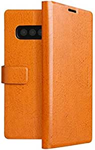 Viva Madrid Finura Cierre Folio Case for Samsung Galaxy S10 Plus - Brown