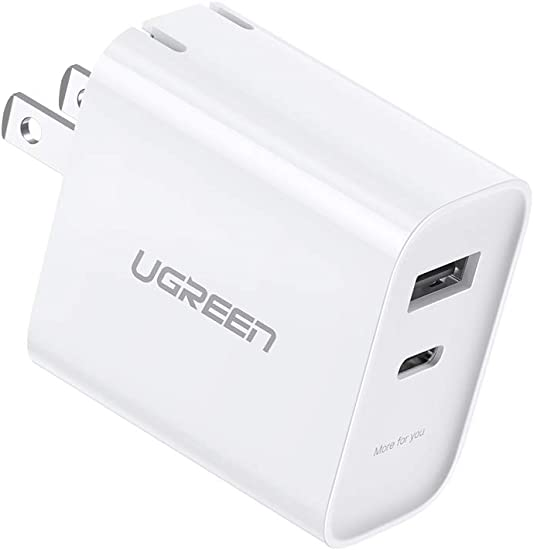 Samsung Galaxy Note10 S10+ S9 iPad Pro Google Pixel UGREEN USB C Charger 30W PD Wall Charger Power Delivery with Foldable Plug for iPhone SE 11 Pro Max Xs Max XR X 8 Plus AirPods Pro LG V50 ThinQ