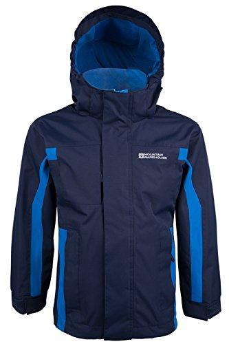 Mountain Warehouse Kinder Samson Kapuze Wasserdichte Nähte Jacke Regen Mantel Marineblau 104