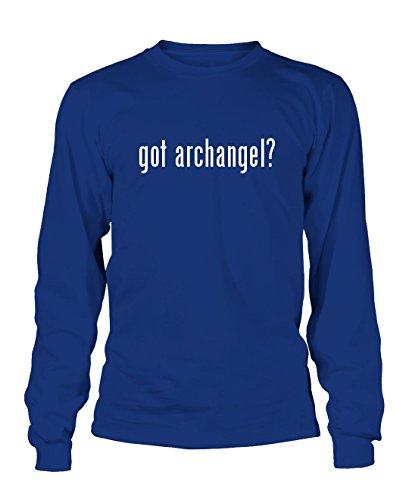 got archangel? Men's Adult Long Sleeve T-Shirt, Blue, - Heavyweight Angels T-shirt