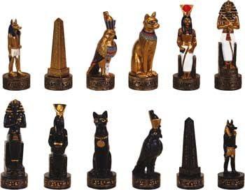 Piezas de ajedrez Egipto Faraón Tutankamón de ARS-Bavaria 6020: Amazon.es: Juguetes y juegos