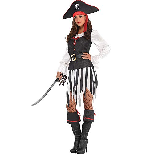 amscan Suit Yourself High Sea Sweetie Pirate Halloween Costume for Women, Extra Large, with Accessories]()