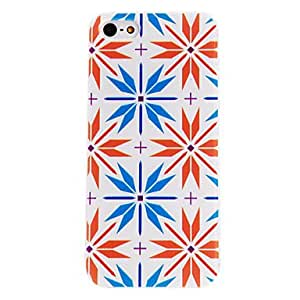 DUR Diamond Petal Pattern PC Hard Case with Transparent Frame for iPhone 5/5S