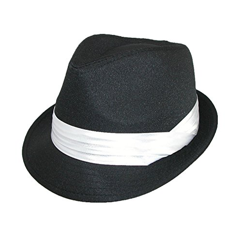 Kenny K Men's Wedding Dress Formal Fedora Hat, Large, Black -