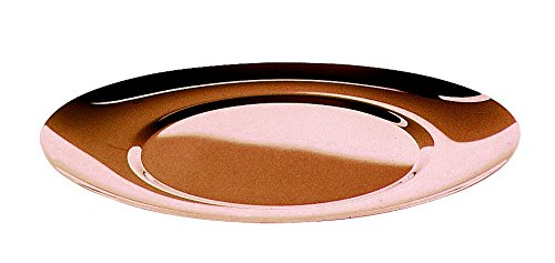 Mepra 25061739B Due Bronzo Oval Charger Plates, 39 x 36 cm, Rose Gold by MEPRA