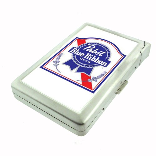 Pabst Blue Ribbon Classic Logo Double-Sided Cigarette Case with lighter, ID Holder, and Wallet D-187