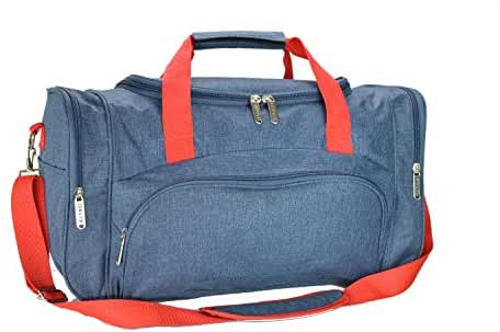 DALIX Signature Travel or Gym Duffle Bag in (Black, Gray, Navy Blue Red)