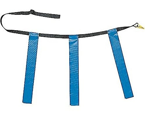 New Martin Dozen (12) Flag Football Quick Release Buckle Web Belts with 3 Flags (Blue, (Belt Buckle Football Buckles)