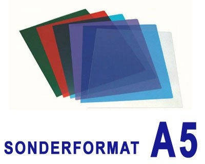 25 Stk. Deckblätter 0.20mm, für A5, transparent glasklar für A5 Filux PE-PB100-06_025-A5#1