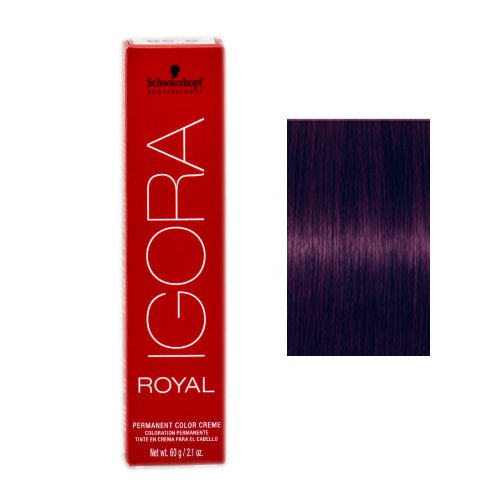 Schwarzkopf Professional Igora Royal Permanent Color Creme, 4-99, Medium Brown Violet Extra, 60 - Brown Violet