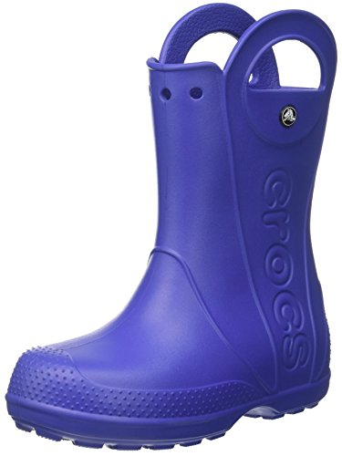 [crocs Handle It Kids Rain Boot (Toddler/Little Kid), Cerulean Blue, 7 M US Toddler] (Boots Shoes For Kids)