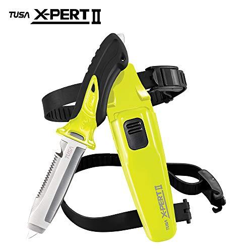 TUSA FK-920 X-Pert II Dive Knife, Blunt Tip, Flash Yellow