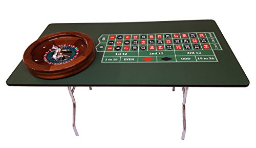 - 60 Inch Profesional Roulette Table & 19 Inch Roulette Wheel - Made in the USA