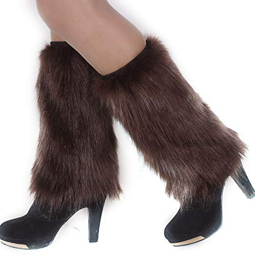 Manka Vesa Womens Furry Leg Warmers Super Soft Multicolor Boots Shoes Cuffs -
