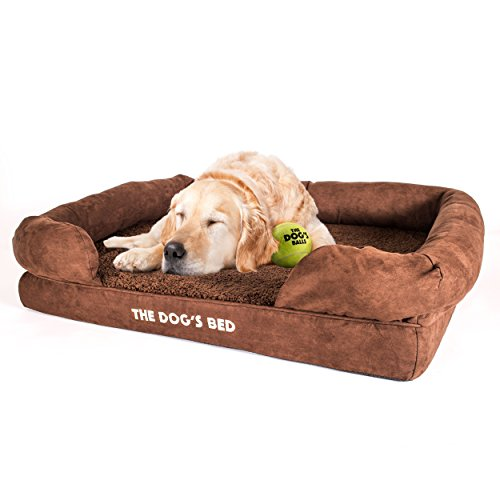 The Dogs Bed, Orthopedic Premium Memory Foam Waterproof Dog Bed, 3 Sizes 3 Colors, Ease Pet Arthritis & Hip Dysplasia Pain, Therapeutic & Supportive, Removable Washable Quality Plush Covers