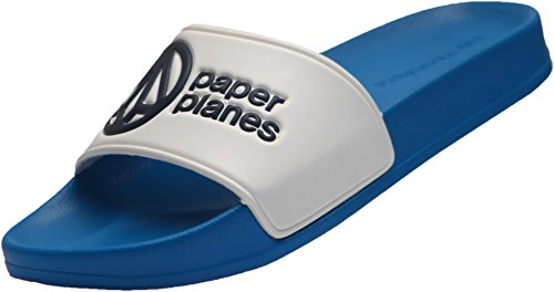 Paperplanes-1357-9 Unisex Daily Comfort Casual Slippers Shoes Blue White HytWxMsmXm