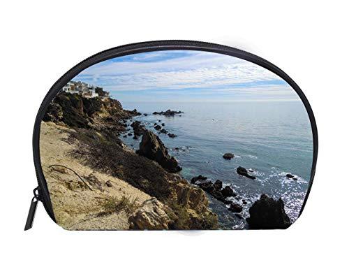 (Half-moon Cosmetic Bag New Port Beach California United States Stock Image Ladies Travel Convenience Small Wash Bag Storage Bag)