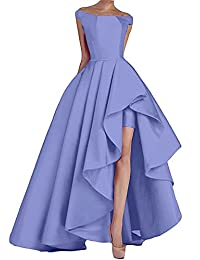 Eliffete Women's Off The Shoulder Prom Dresses Long 2018 Satin Party Formal Gown