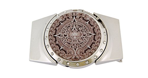 Ancient Aztec Calendar Mayan Indians Belt Buckle Tribal Halloween Costume Gothic ()