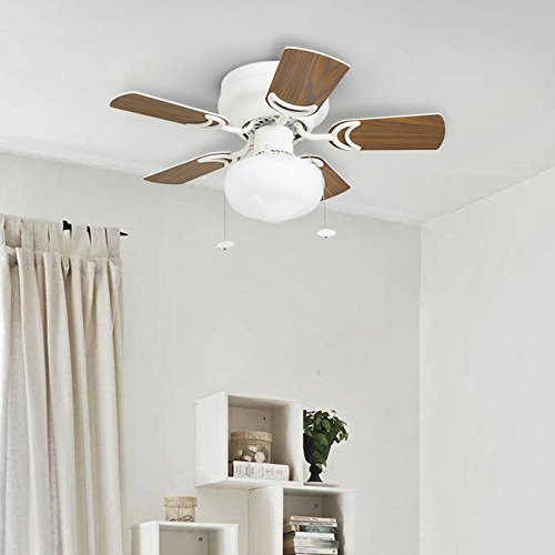 Prominence Home 41530-01 Hero 28'' Hugger Small Ceiling Fan, LED Schoolhouse Globe, Glossy White by Prominence Home (Image #8)
