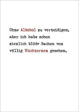 5er Packung Postkarte Spruche Humor Ohne Alkohol Zu Verteidigen