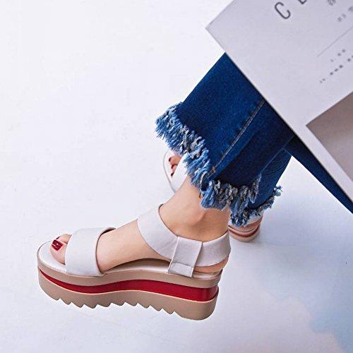Tyery Albaricoque Gruesa Abajo Fósforo Muffin Todo Casuales Suela Mujeres Moda Embarazadas Mujer Para Zapatos Sandalias De Suave Estudiante 39 RPxqTRr