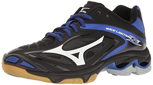 Mizuno Women's Wave Lighting Z3 Volleyball Shoe,Black/Royal,9.5 B US