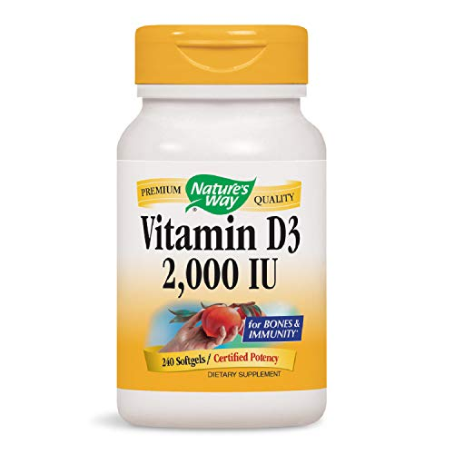 Nature's Way Vitamin D3 2,000 Iu for Bones & Immunity, 240 Softgels, 240 Count