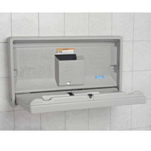 Facility Baby Changing Station - color: Grey, style: Horizontal