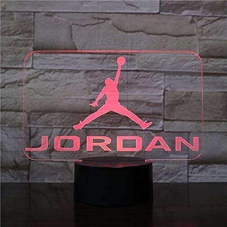 Baloncesto Michael Jordan USB 3D Led Luz de noche Niños Niño Niños ...