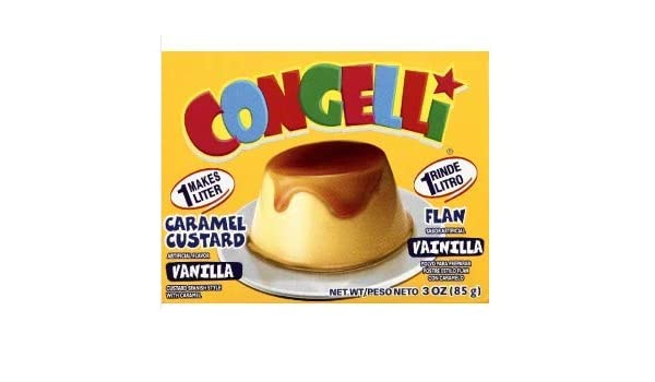 Amazon.com : Con Geli Gelatin Flan, 3-Ounce (Pack of 4) : Grocery & Gourmet Food