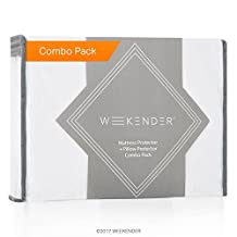 WEEKENDER Combo Pack Hypoallergenic Waterproof Mattress Protector and Pillow Protector - Premium Bed Protection Set - Twin