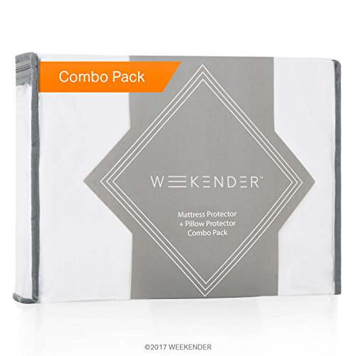 WEEKENDER Combo Pack Hypoallergenic Waterproof Mattress Protector + 2 Pillow Protectors - (King Bed Pack)