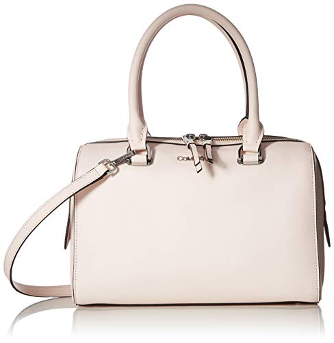 - Calvin Klein Mercy Saffiano Leather Key Item Bowler Satchel, powder pink
