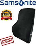 Samsonite SA5447 Full Size Lumbar Support with 100% Pure Memory Foam  Helps Relieve Lower Back Pain  Fits Most Seats