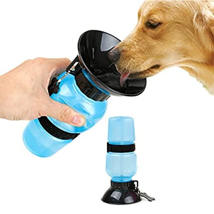 Portable Dog Water Bowl >> Latiq Mart Eco Friendly Plastic Portable Dog Water Bowl 20 Oz Multicolour