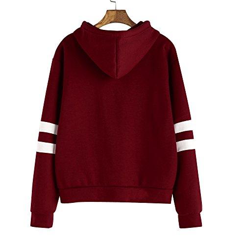 Chic Sweat Pull Rouge Vin AIMEE7 Femme Sport Shirt Femmes Blouse Top Vetement Tee Capuche Fille xqpSwzt