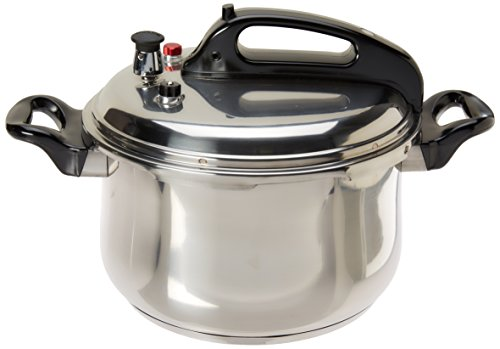 Stainless Steel Pressure Cooker, Silver, 7.39 Quarts