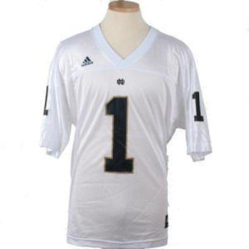 Notre Dame Fighting Irish Replica Adidas Fb Jersey - White #1 - Men - 2XL