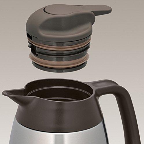 12 Stunden hei/ß BPA-Frei Edelstahl mattiert 1,0 l THERMOS 4026.205.100 Thermoskanne THV 24 Stunden kalt zerlegbarer Verschluss