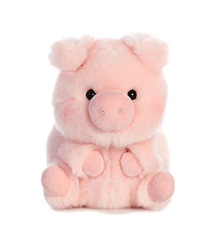 "Aurora World 16833 Rolly Pet Prankster Pig Plush, 5"", Pink"